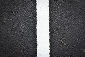 New white line on the road texture — Stock Photo