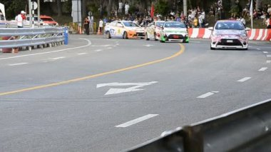 Chiang Mai, Thailand - October 20 - Racing Car Yaris One Make Race In Toyota Motorsport Thailand 2013 — Stok video