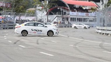 Chiang Mai, Thailand - October 20 - Show Drift Car In Toyota Motorsport Thailand 2013 — Stock Video