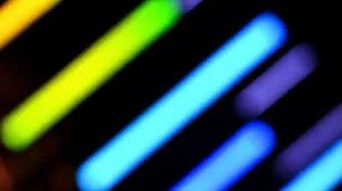 Colorful Bokeh Of LED Lamp (Loop) — Stock Video