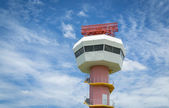 Radar tower communication and nice sky — 图库照片