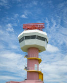 Radar tower communication and nice sky — Stock Photo