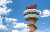 Radar tower communication and nice sky — Stockfoto