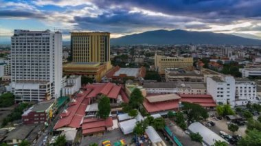 Time Lapse Day To Night Cityscape Of Chiang Mai, Thailand — Vídeo de Stock