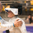 Fencing Cup Torino 2013 woman foil championship — Stock Photo