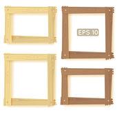 Foto de conjunto, marcos de madera — Vector de stock
