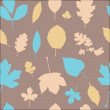 Autumn different leaves seamless pattern — Stock Vector