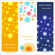 Set of 3 abstract shiny banners — Stock Vector