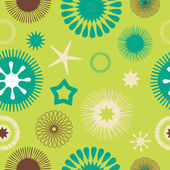Seamless abstract floral pattern green — Stock Vector