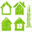 Green grass home vector icons set 2. — Stock Vector #16849103