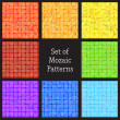 Set of vector patterns of colorful mosaic. — Stock Vector