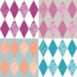 Rhombus retro background. Vector Illustration. - Stock Vector