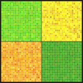 Set of vector patterns of colorful mosaic. — Vettoriale Stock