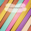 Vector colorful wooden vintage background — Stock Vector