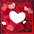Love Valentine's Day Wedding Heart Card — Image vectorielle