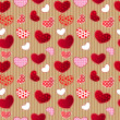 Red Vintage Love Valentin's Day Seamless Pattern — Stock Vector #18549267