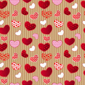 Red Vintage Love Valentin's Day Seamless Pattern — Wektor stockowy