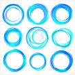 Design elements in blue colors icons. Set 2 — Stock vektor