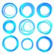 Design elements in blue colors icons. Set 2 — ストックベクタ