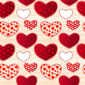 Red and Pink Love Valentin's Day Seamless Pattern — Stock Vector