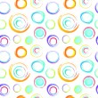 Colorful retro seamless circles background - Stock Vector