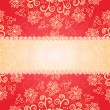 Red floral ornament background - Imagen vectorial