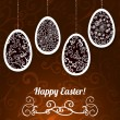 Chocolate Easter Vector Background with Eggs - Imagen vectorial