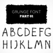 Grunge hand written alphabet — Stock Vector