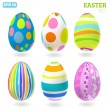3D Vector easter eggs set with shadows — Stock Vector #22498235