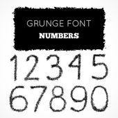 Grunge hand written numbers — Stock Vector