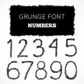 Grunge rukou psaný čísla — Stock vektor