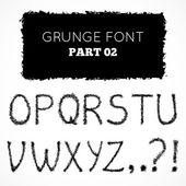 Mão grunge escrita alfabeto — Vetorial Stock