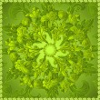 Green floral ornament background — Stok Vektör