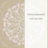 Vintage ethnic vector ornament mandala background — Stock Vector