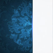 青い花飾りの背景 — ストックベクタ