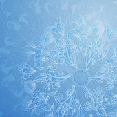 Blue floral ornament background — Stock Vector