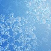 Modrý ornament květinové pozadí — Stock vektor