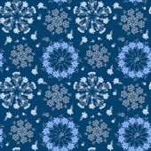 Vintage mandala floral seamless pattern — Stock Vector