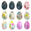 Royalty-Free Stock Vector Image: Decorated vector easter eggs set