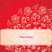Rot floral ornament hintergrund — Stockvektor