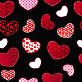 Red and Black Love Valentin's Day Seamless Pattern — 图库矢量图片