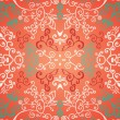 Seamless red floral pattern - Stock Vector