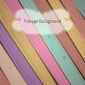 ベクトル カラフルな木製のビンテージ背景 — ストックベクタ