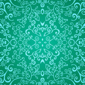 Seamless emerald floral pattern — Stock Vector