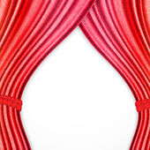 Red background with opera curtains — Vector de stock