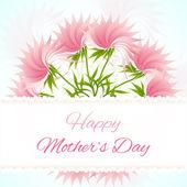Cartão de fundo de flor de lótus abstrata — Vetor de Stock