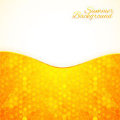 Abstract summer background with honey — Stock Vector