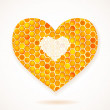 Royalty-Free Stock Vector Image: Vector card with Big Heart Honeycomb
