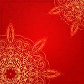 De vintage étnica ornamento mandala fundo vector — Vetorial Stock
