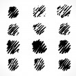Set of grunge hand drawn dots icons — Stock Vector